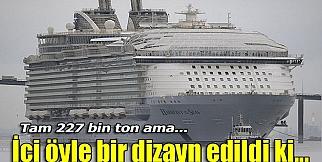 Dev yolcu gemisi denize indirildi