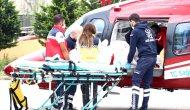 Ağır yaralı genç helikopterle Kocaeli'ne sevk edildi