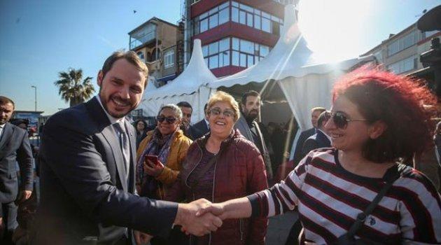Bakan Albayrak, Sarıyer'de esnaf ziyaretinde bulundu!
