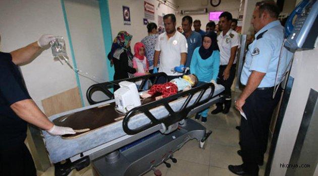 Beyşehir'de balkondan düşen Suriyeli bebek yaralandı