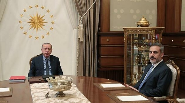 Cumhurbaşkanı Erdoğan ile MİT Başkanı Fidan görüştü