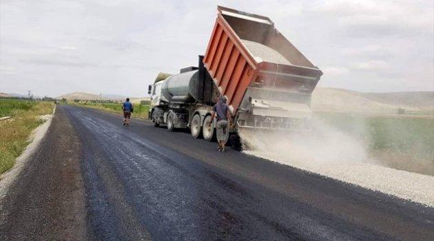 Ilgın'da asfaltlama çalışmaları