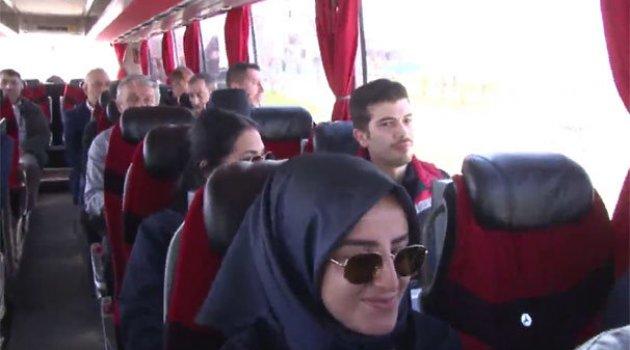 İlk kafile İstanbul Yeni Havalimanı'na ulaştı