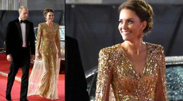 Kate Middleton'ın elbisesi sadece elbise değilmiş: Altın ışıltılı güç gösterisi