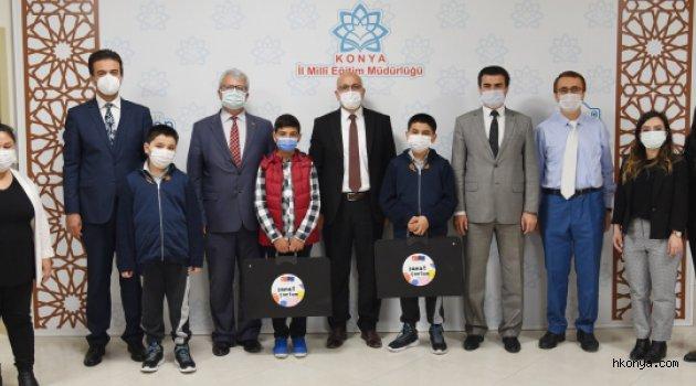 Konya'da PIKTES'de dereceye giren öğrenciler ödüllendirildi
