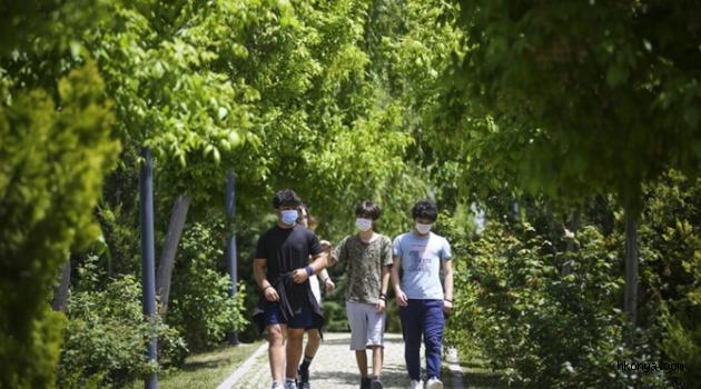 15-20 yaş grubu gençler uzun zaman sonra sokağa çıktı