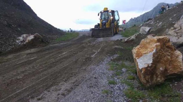Akseki'yi Seydişehir'e bağlayan alternatif yayla yolu yeniden açıldı