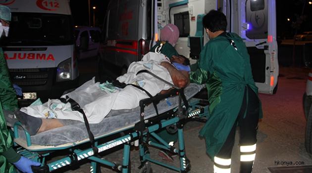 Boğazı kesilen kişi, kendi kullandığı aracıyla hastaneye gitti