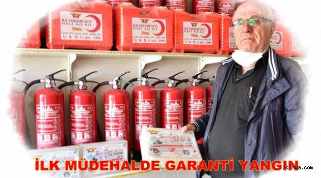 Garanti Yangın, söndürme cihazlarıyla hizmet veriyor