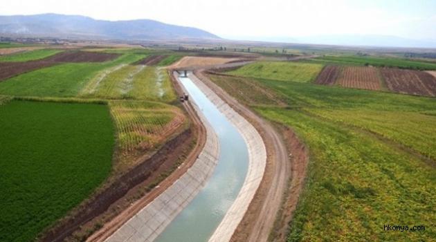 Konya Ovası Sulama Projesi ile 14 bin futbol sahası kadar alan daha suya kavuşuyor