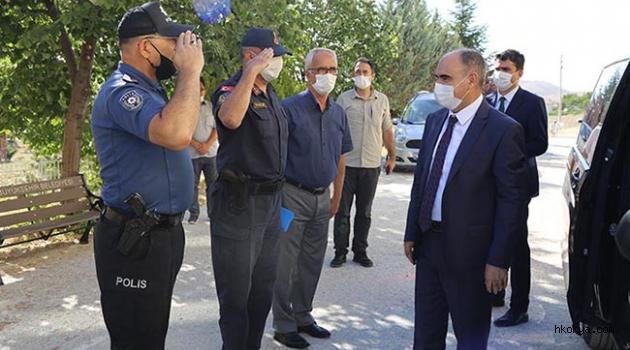 Konya Valisi Özkan, Halkapınar'ı ziyaret etti