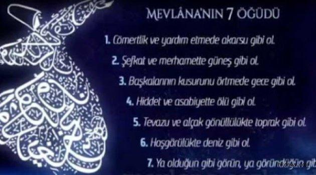 Minikler Mevlana'yı 7 Öğütle Andı