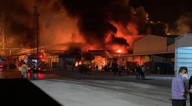 Şeker fabrikasında yangın çıktı