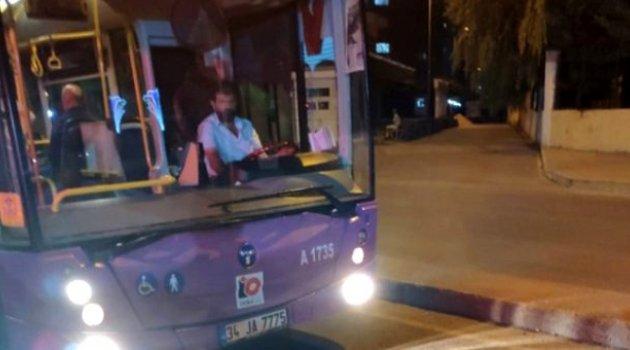 Otobüs şoförü, duraktan almadığı yolcu ile tartıştı