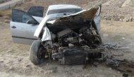 Şarampole devrilen otomobildeki 2 kişi yaralandı