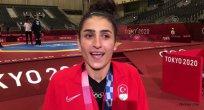 Hatice Kübra, Tokyo 2020'de kazandığı bronz madalyanın mutluluğunu yaşıyor