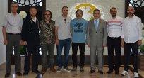 Atiker Konyaspor Heyeti  Rektör Mustafa Şahin'i Ziyaret Etti