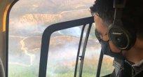 Bakan Pakdemirli, Hatay'daki orman yangınını havadan inceledi