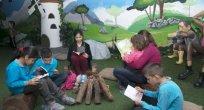 Çocuklar için açılan kütüphane yoğun ilgi görüyor