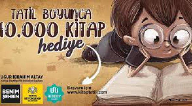 Yarıyıl tatilindeki öğrencilere 10 bin kitap